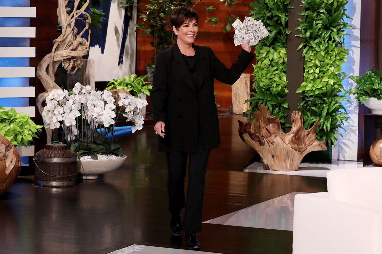 "The matriarch of the Kardashian-Jenner family, Kris Jenner, makes an appearance on ""The Ellen DeGeneres Show"" airing Thursday, February 27th"