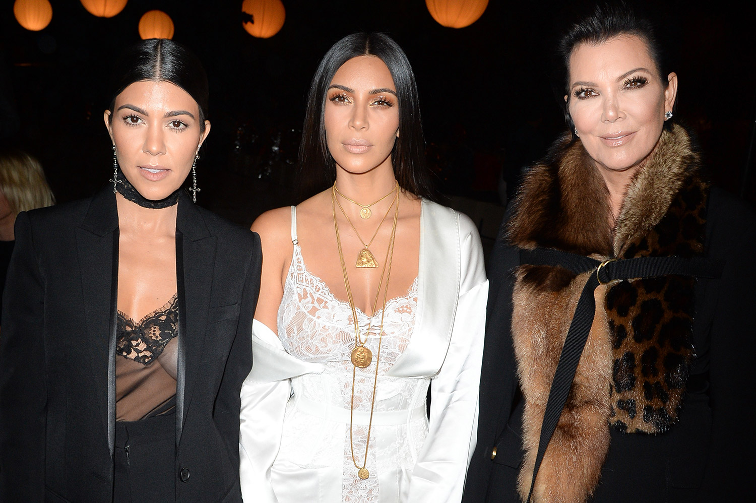 Kourtney Kardashian, Kim Kardashian and Kris Jenner