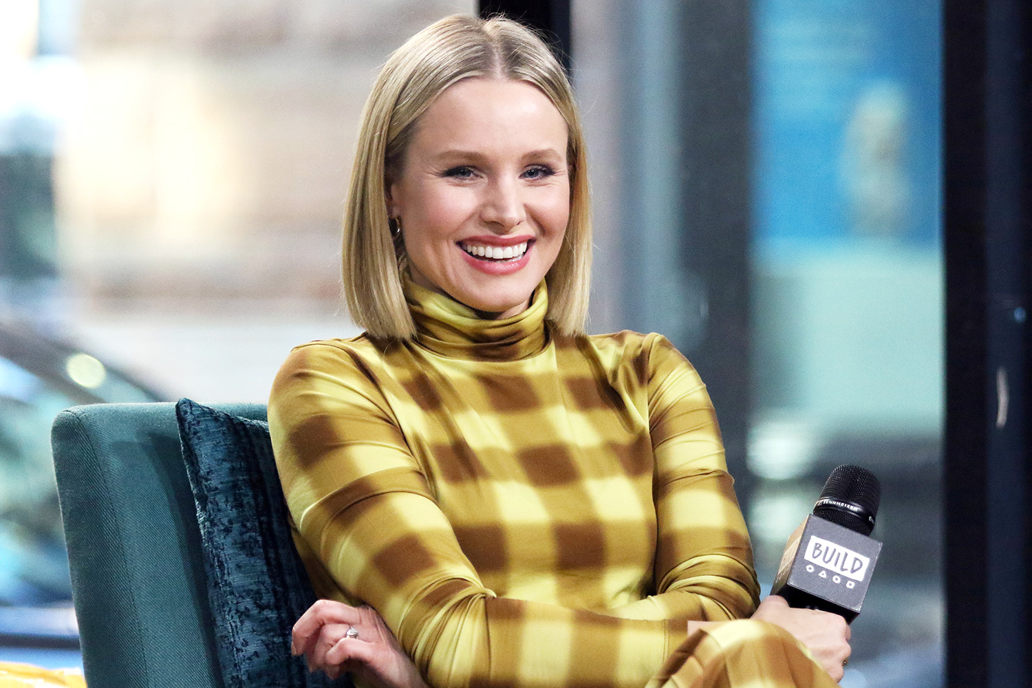 Kristen Bell attends the Build Series to discuss her product line Hello Bello at Build Studio on February 21, 2020 in New York City