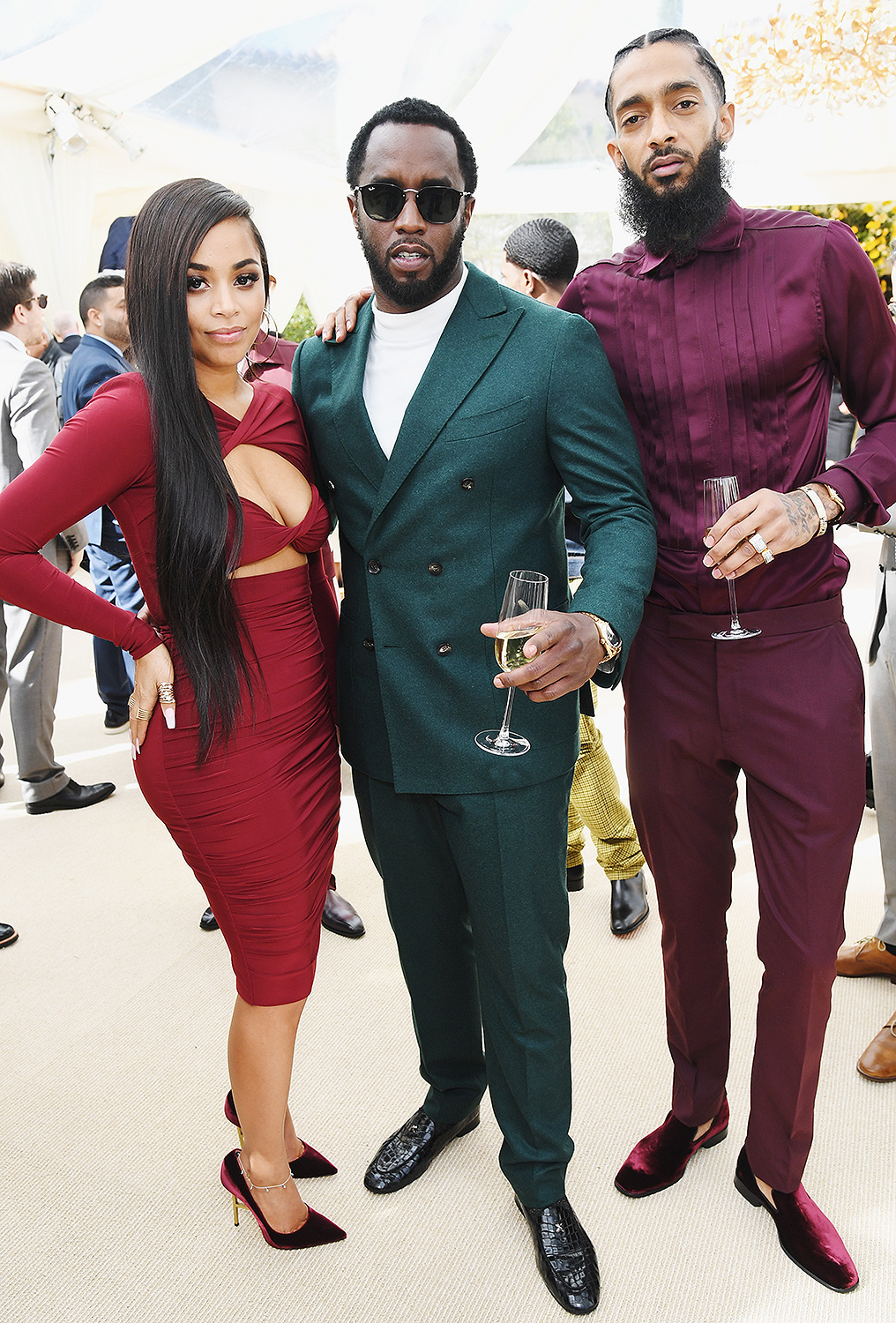 Lauren London, Diddy and Nipsey Hussle