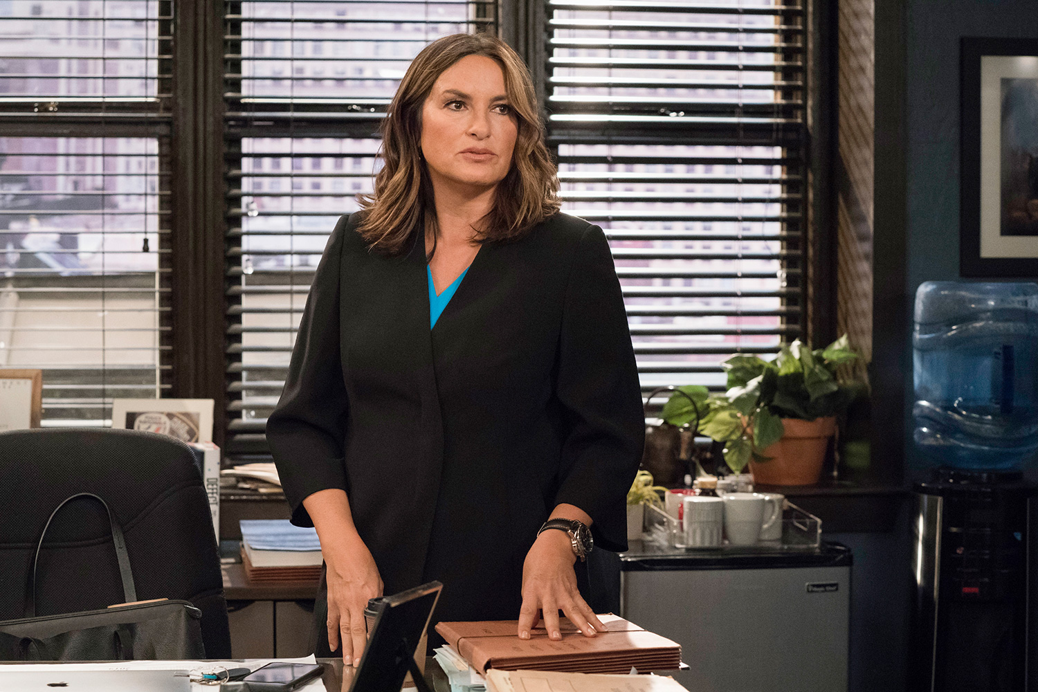 """LAW & ORDER: SPECIAL VICTIMS UNIT -- """"Murdered At A Bad Address"""" Episode 21006 -- Pictured: Mariska Hargitay as Captain Olivia Benson"""