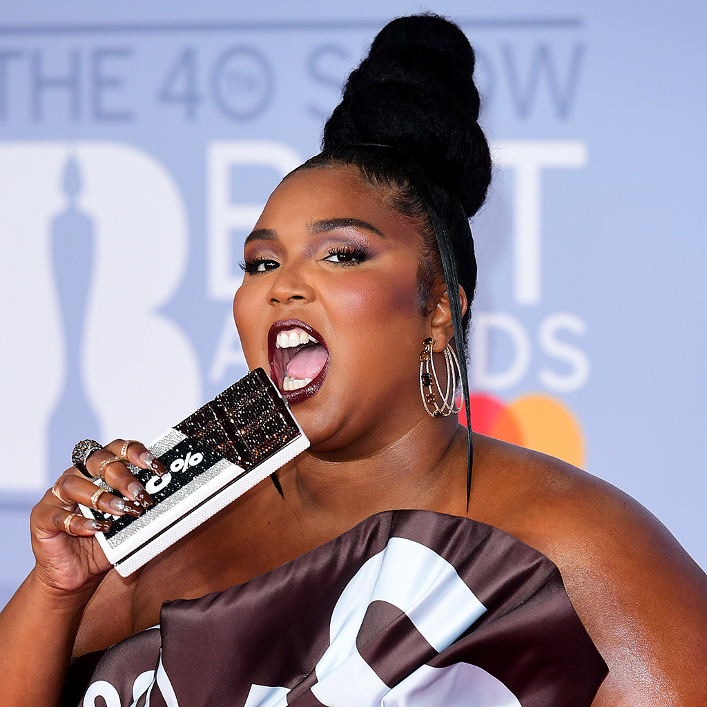LONDON, ENGLAND - FEBRUARY 18: (EDITORIAL USE ONLY) Lizzo attends The BRIT Awards 2020 at The O2 Arena on February 18, 2020 in London, England.