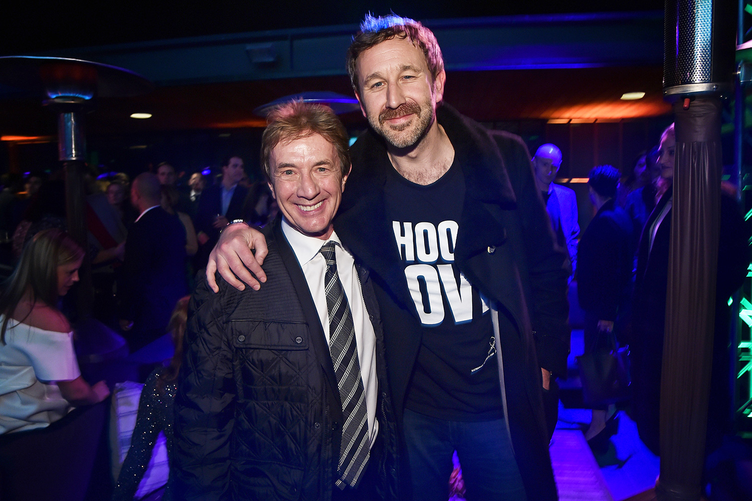 Martin Short and Chris O'Dowd attend the Oscar Wilde Awards 2020 at Bad Robot on February 06, 2020 in Santa Monica, California