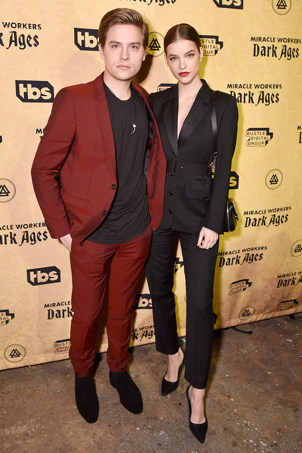 """Dylan Sprouse and Barbara Palvin attend """"Miracle Workers: Dark Ages"""" premiere And MEADia event at Houston Hall on January 22, 2020 in New York City"""