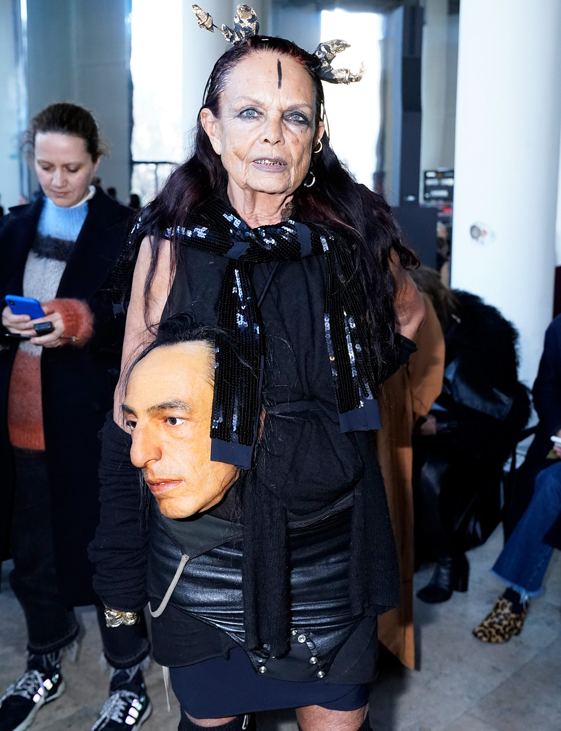 Michèle Lamy attends the Rick Owens show as part of the Paris Fashion Week Womenswear Fall/Winter 2020/2021 on February 27, 2020 in Paris, France