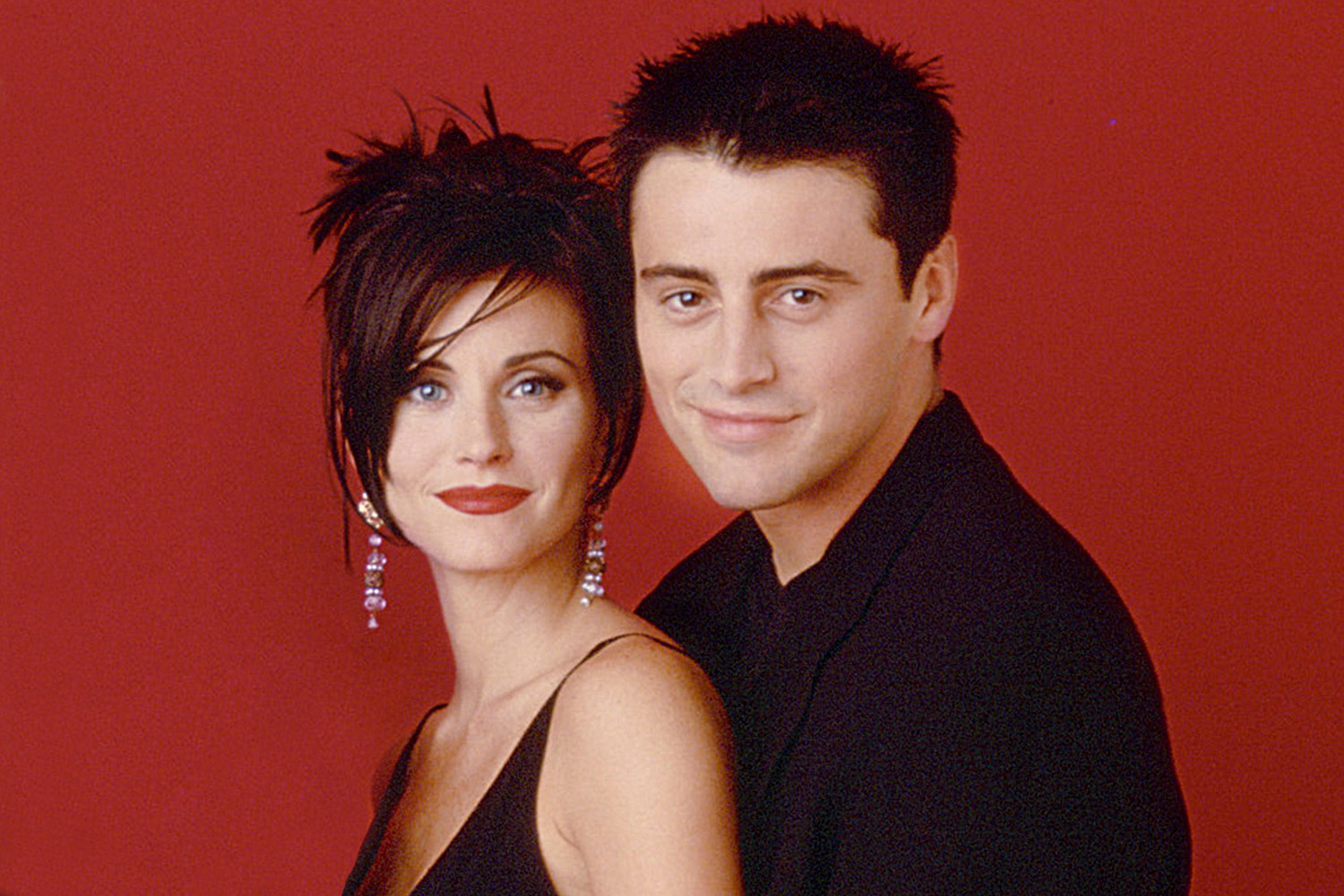 Courteney Cox Arquette as Monica Geller, Matt LeBlanc as Joey Tribbiani