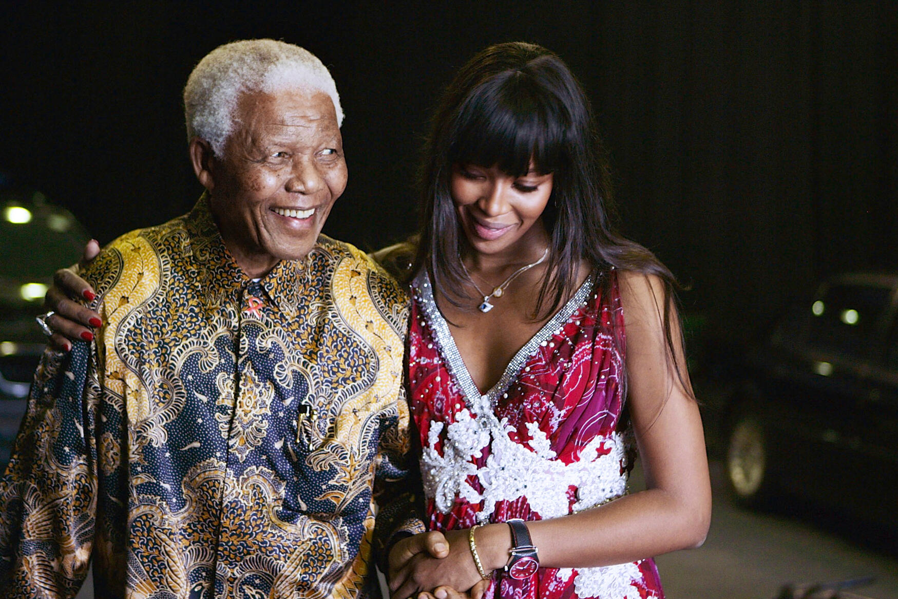 naomi campbell and nelson mandela