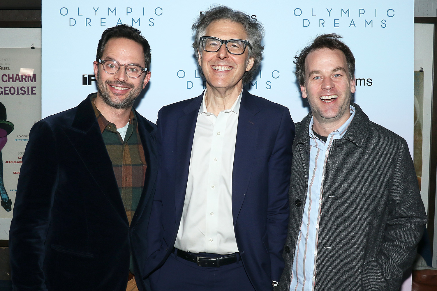 """Nick Kroll, Ira Glass and comedian Mike Birbiglia attend the """"Olympic Dreams"""" New York screening at IFC Center on February 12, 2020 in New York City"""