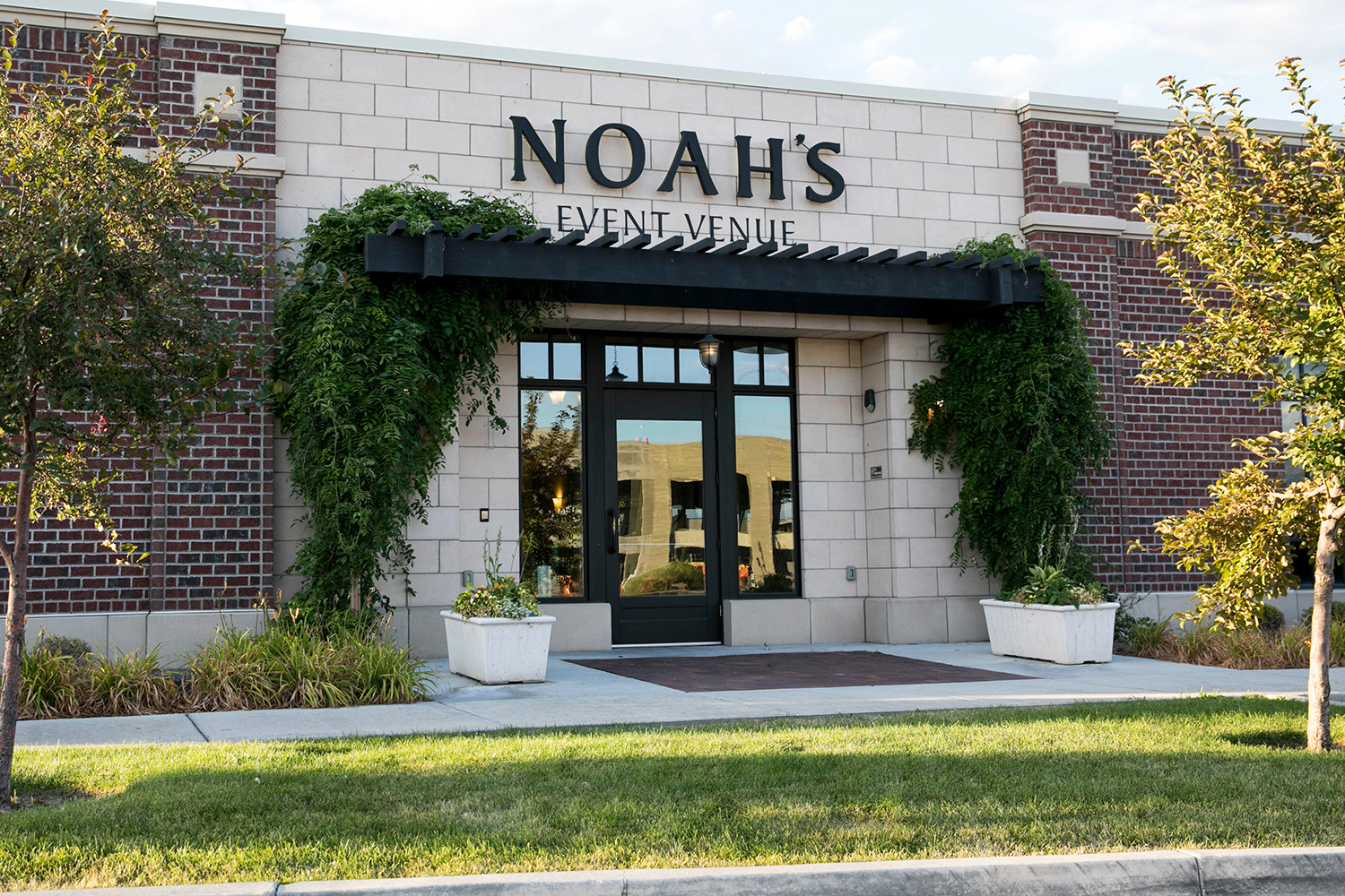 A logo sign outside of a NOAH'S Event Venue location in Lindon, Utah on July 29, 2019.