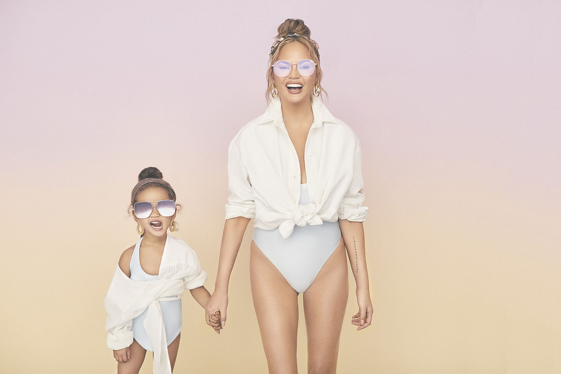 Chrissy Teigen and Luna for Quay