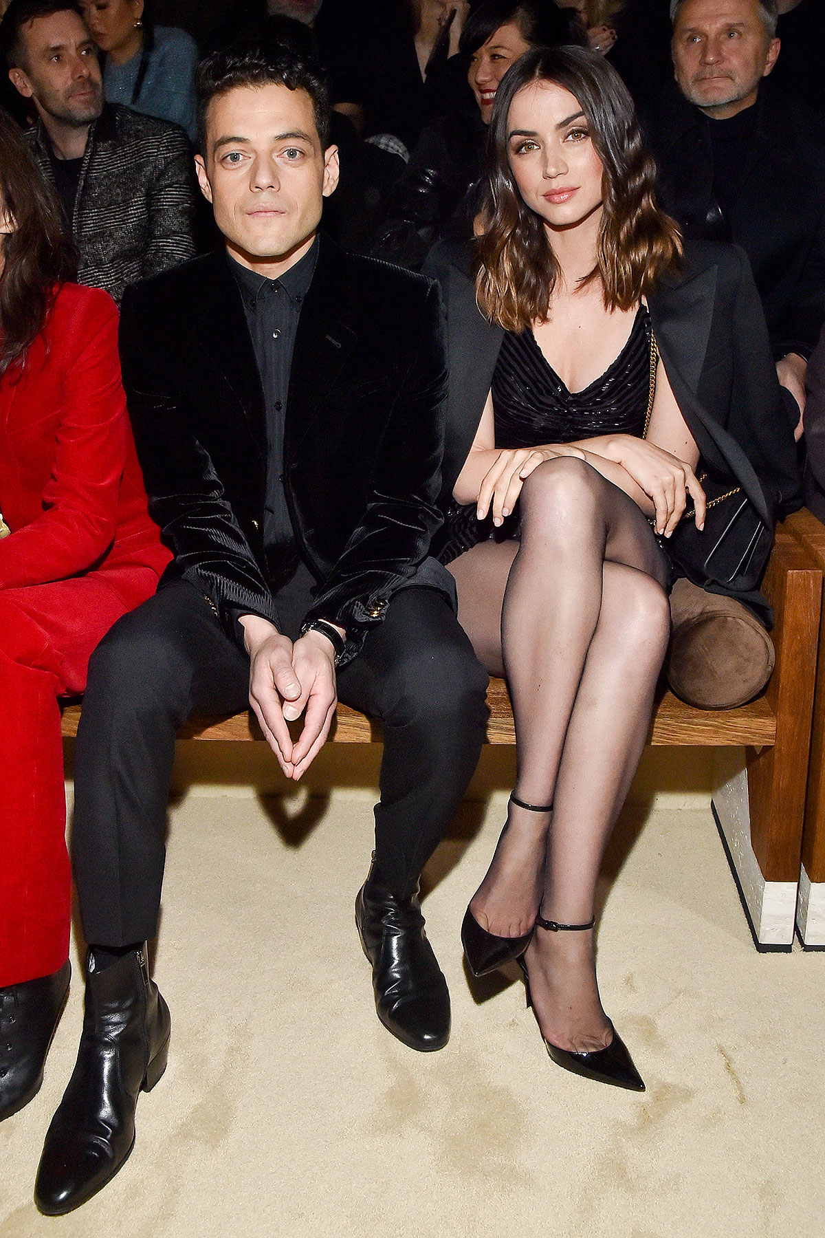 Rami Malek and Ana de Armas attend the Saint Laurent show as part of the Paris Fashion Week Womenswear Fall/Winter 2020/2021 on February 25, 2020 in Paris, France.