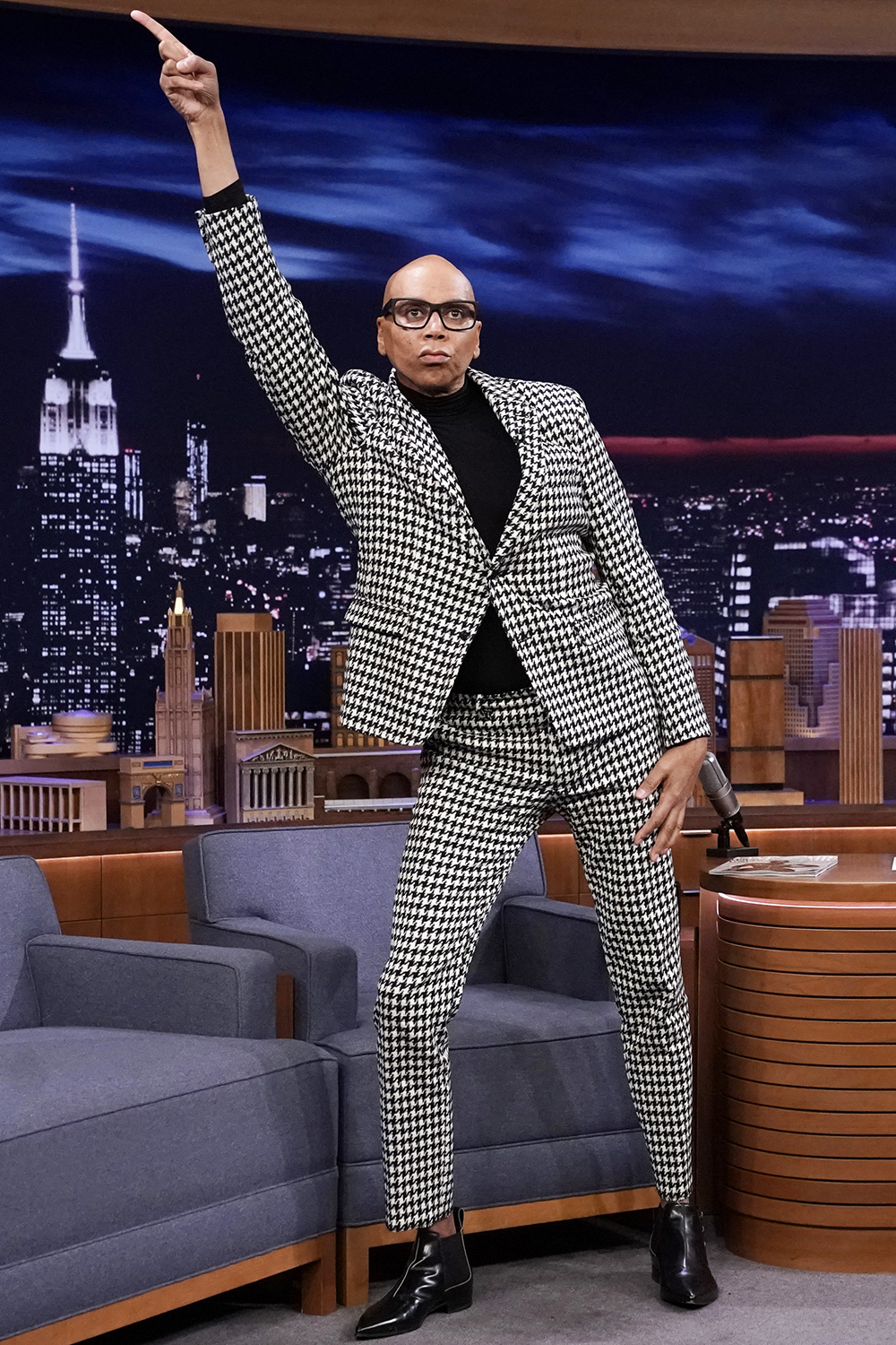 THE TONIGHT SHOW STARRING JIMMY FALLON -- Episode 1204 -- Pictured: Drag queen RuPaul during an interview on February 6, 2020