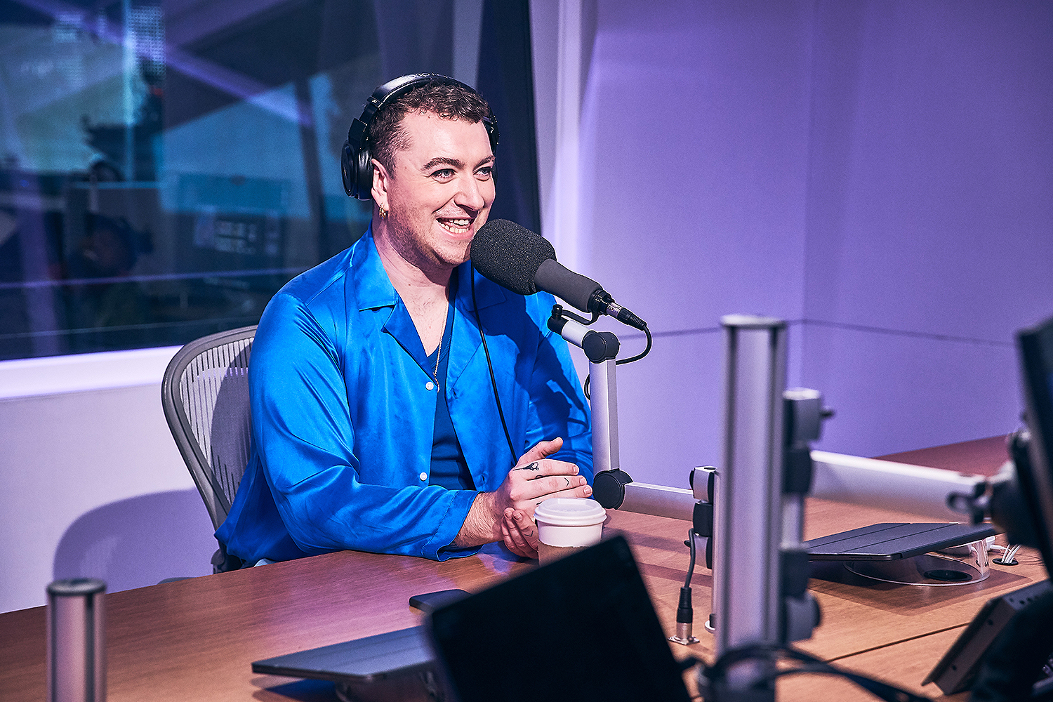 Sam Smith and Zane Lowe