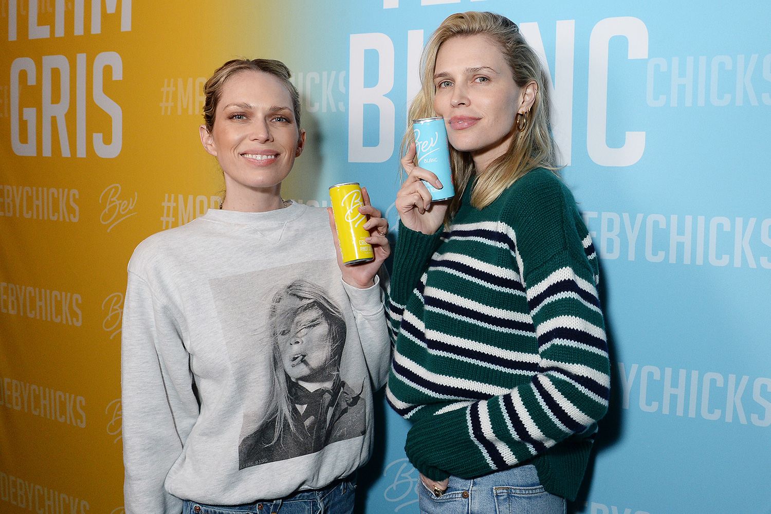 Sara and Erin Foster Celebrate the Launch of Bev Sauv Blanc and Pinot Grigio