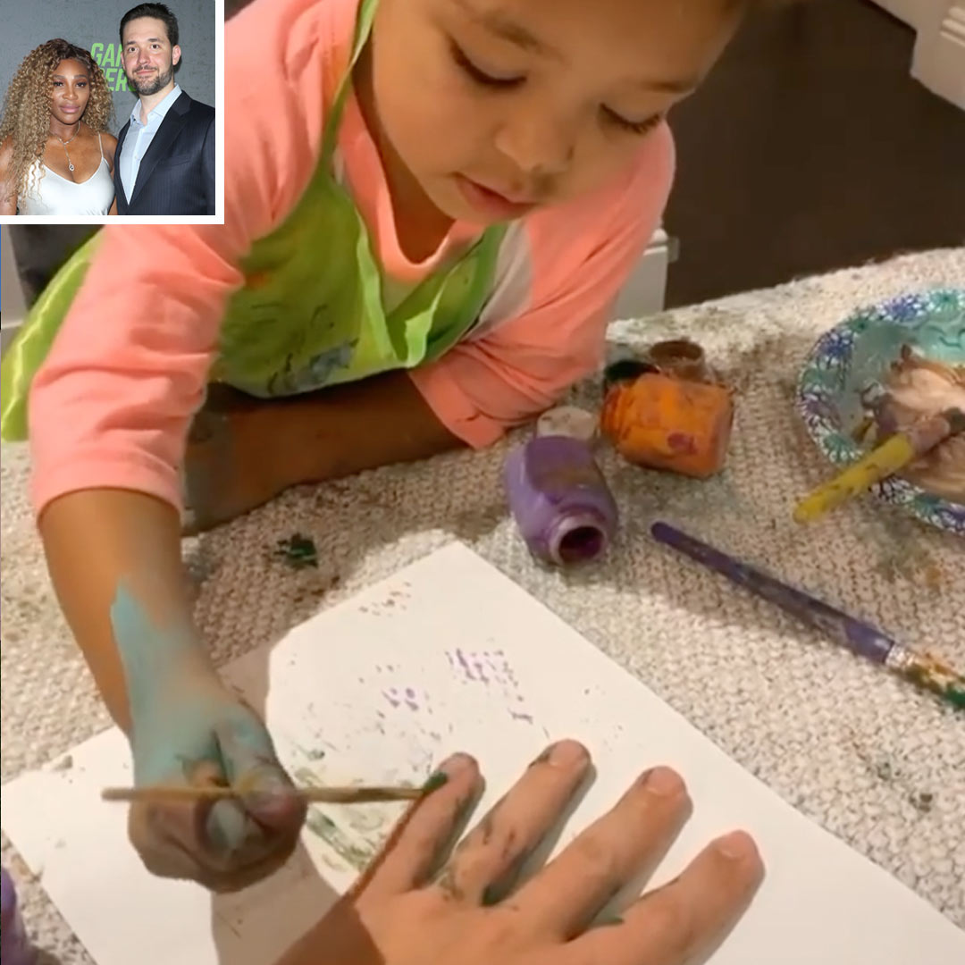 Olympia, 2, Paint Dad Alexis Ohanian's Nails