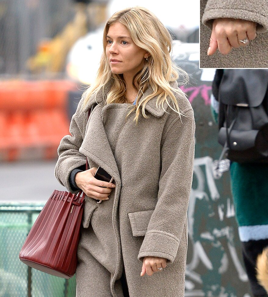Is Sienna Miller Engaged To Lucas Zwirner See Her Gorgeous Diamond Ring People Com