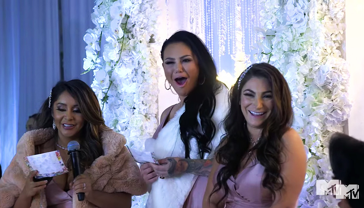 Jersey Shore: Guests Boo Snooki, JWoww and Deena's Speech at Angelina's Wedding