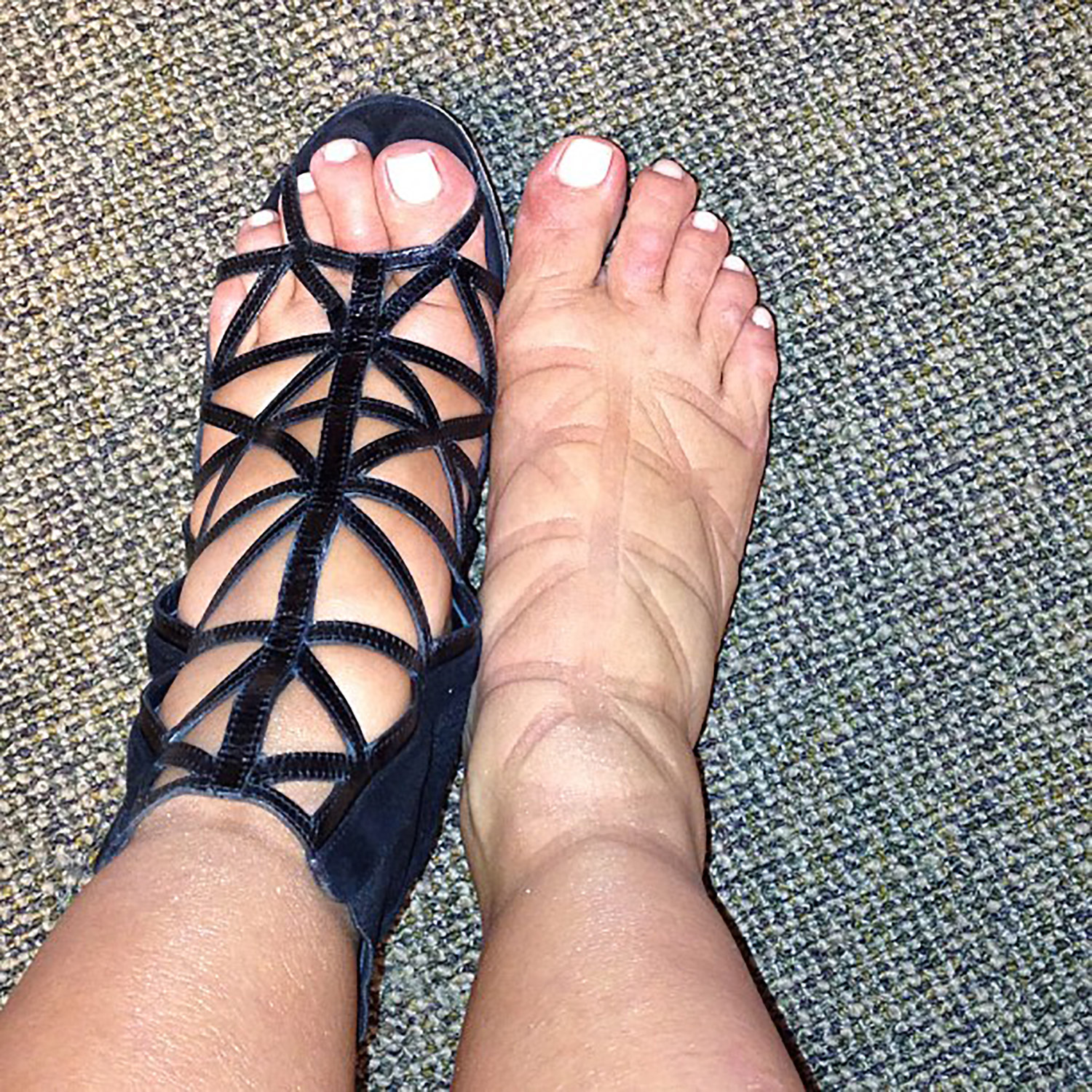 Kim Kardashian's Faux Foot Tattoo