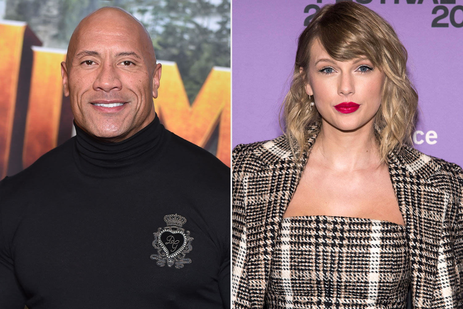 Dwayne Johnson and Taylor Swift