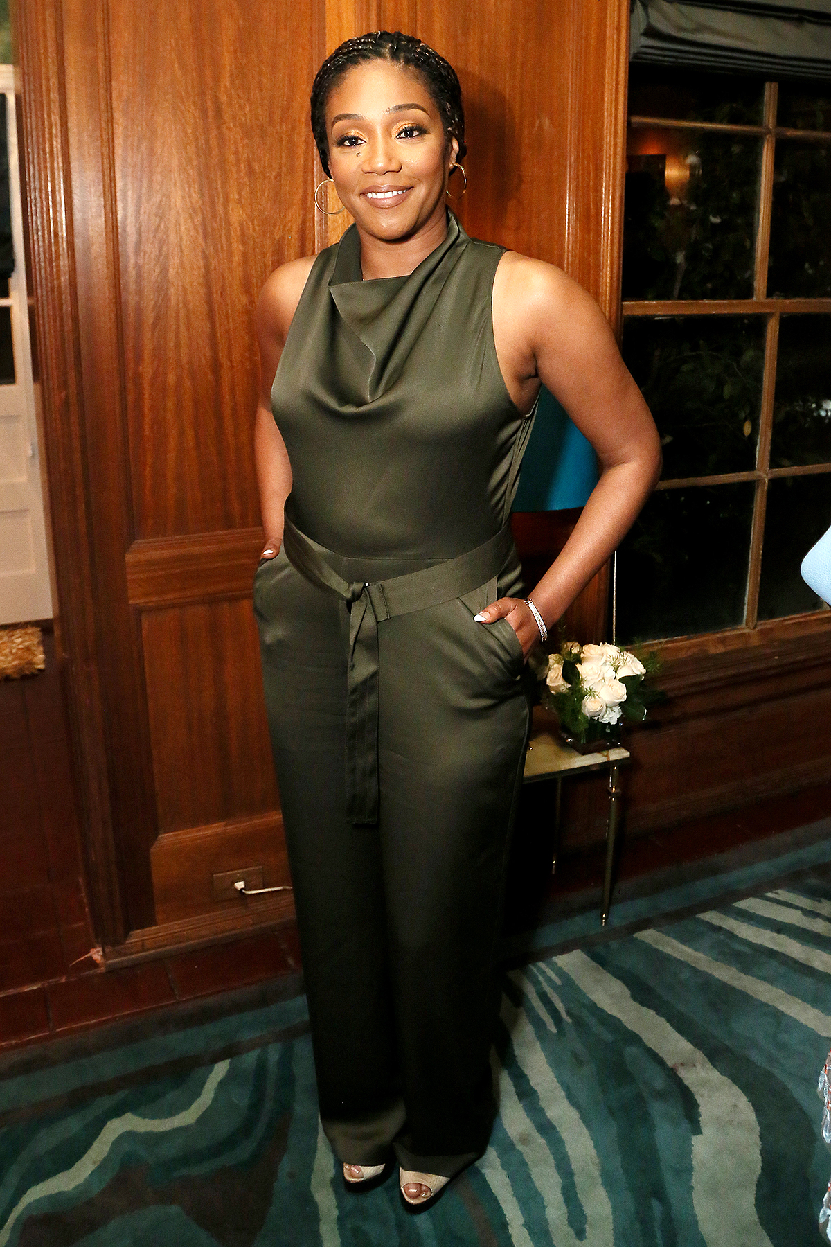 Tiffany Haddish attends Alfre Woodard's 11th Annual Sistahs' Soirée at The Private Residence of Jonas Tahlin, CEO of Absolut Elyx on February 05, 2020