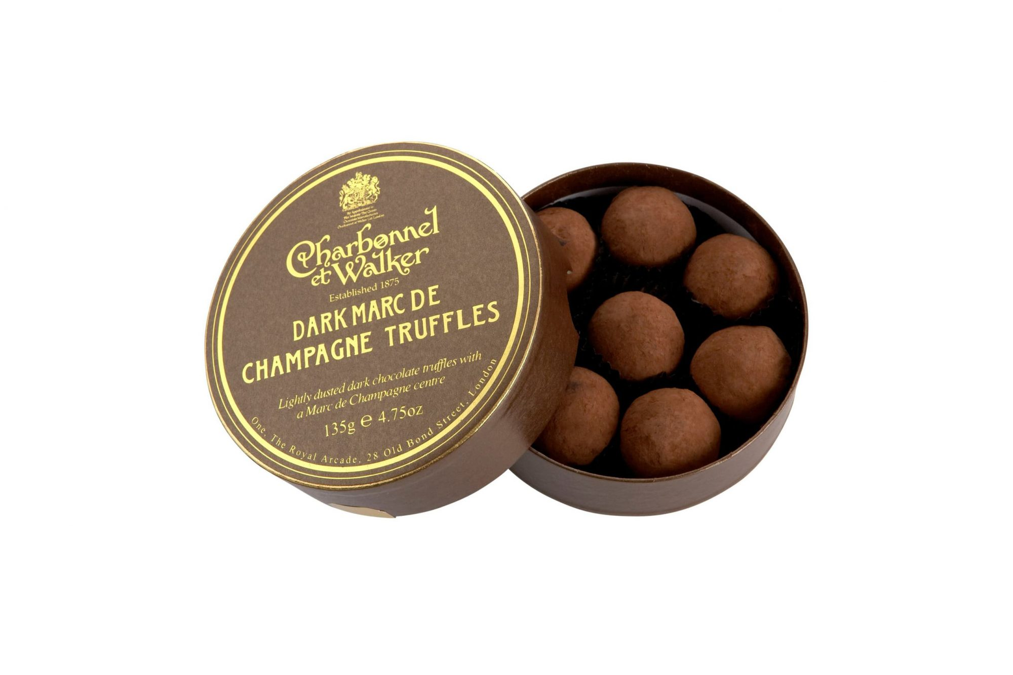 Flavored Chocolate Truffles in Gift Box CHARBONNEL ET WALKER