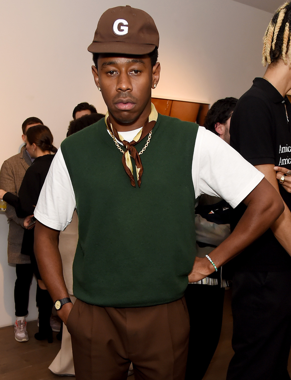 Tyler, The Creator attends the Renell Medrano and WePresent opening preview of PAMPARA Photographic exhibition on February 17, 2020 in London, England