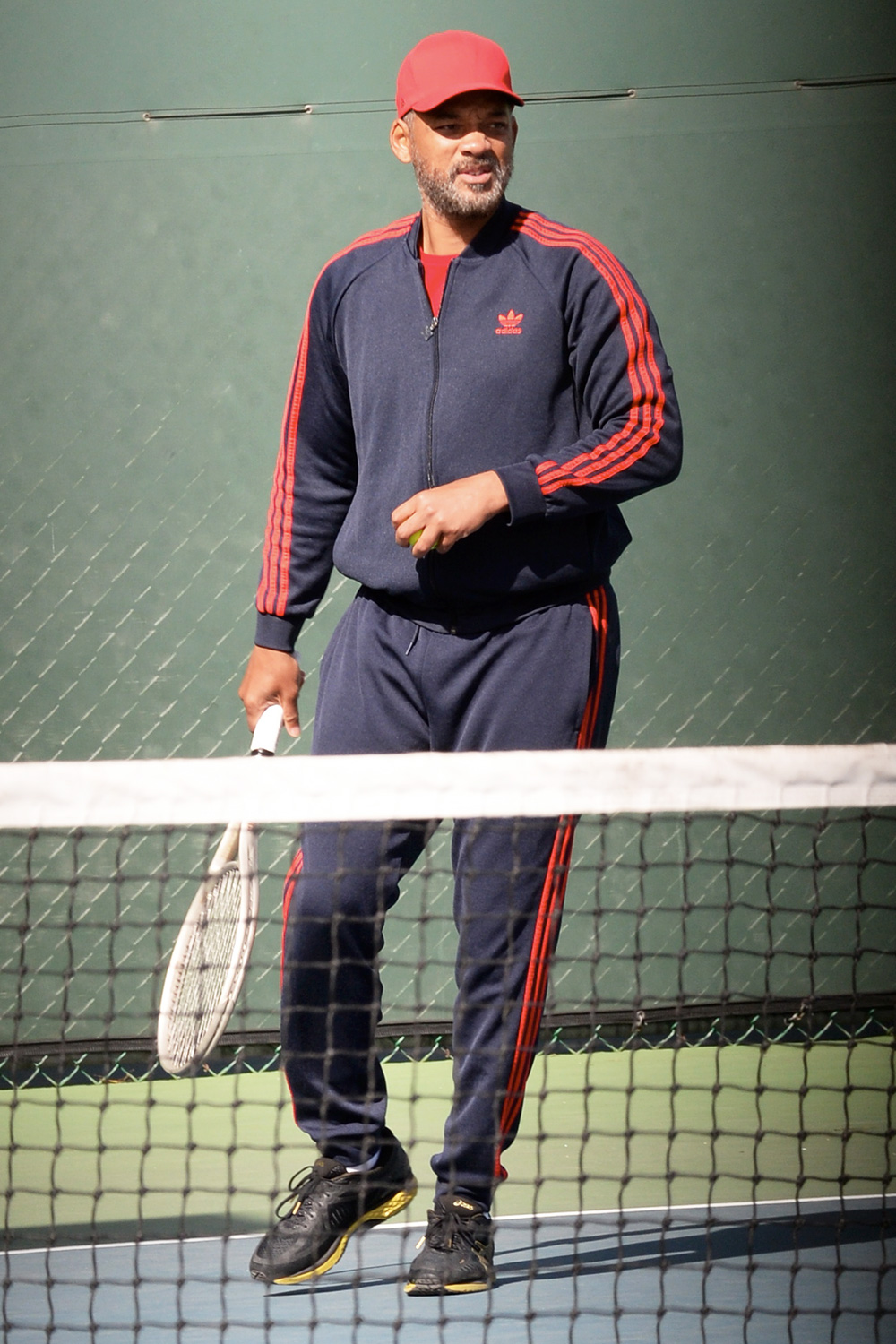 """Will Smith hits the tennis courts in Los Angeles. The Bad Boy actor is set to play the infamous father of the tennis sisters Venus and Serena Williams in """"King Richard"""" set to film this year."""