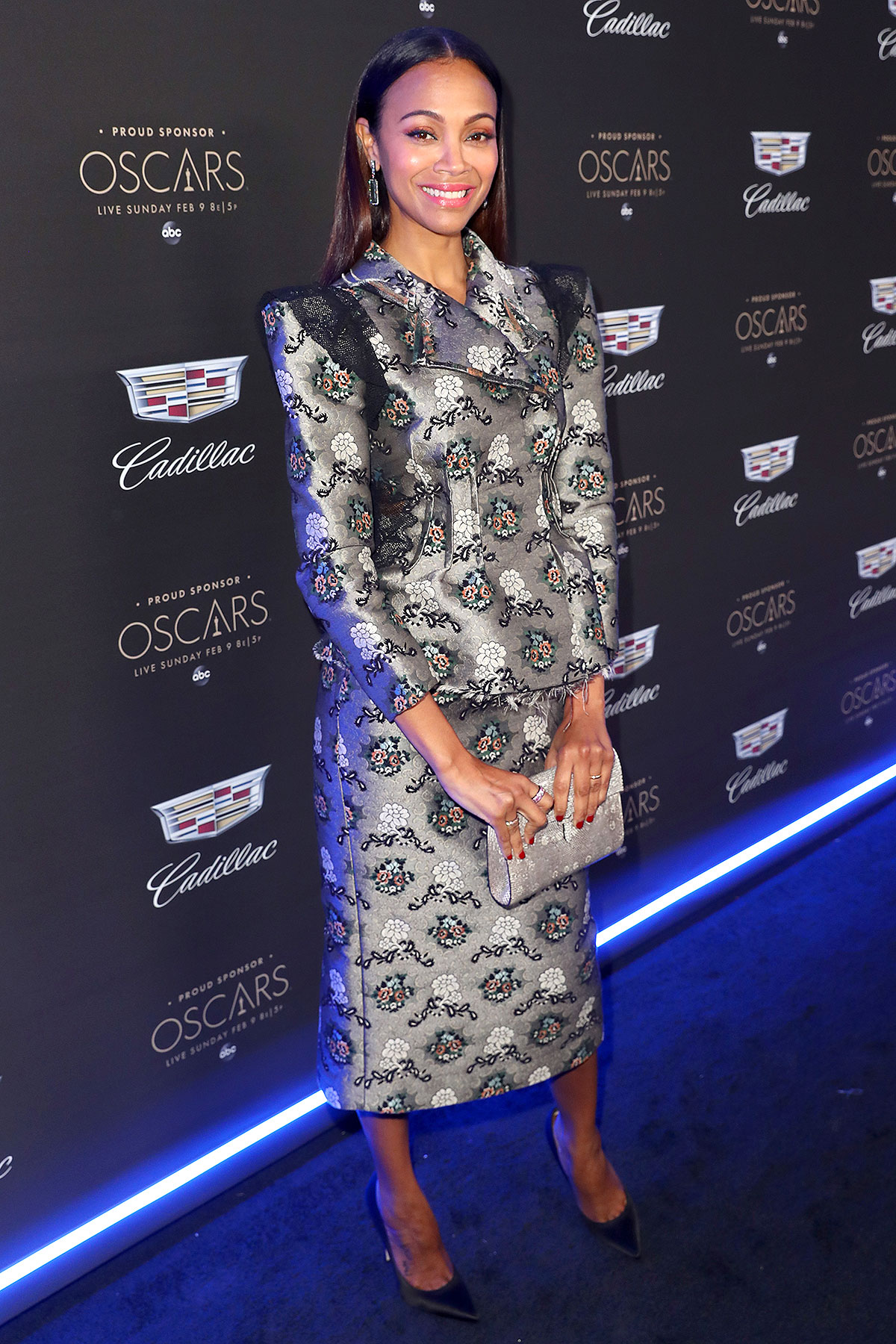 Zoe Saldana attends the Cadillac Oscar Week Celebration at Chateau Marmont on February 6, 2020