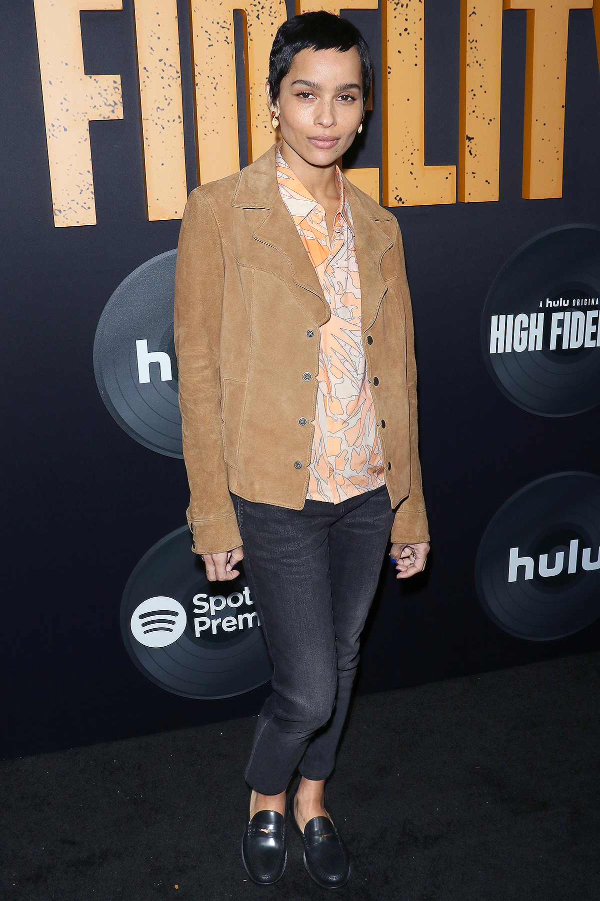 "Actress Zoe Kravitz attends the Hulu's ""High Fidelity"" New York premiere at Metrograph on February 13, 2020"