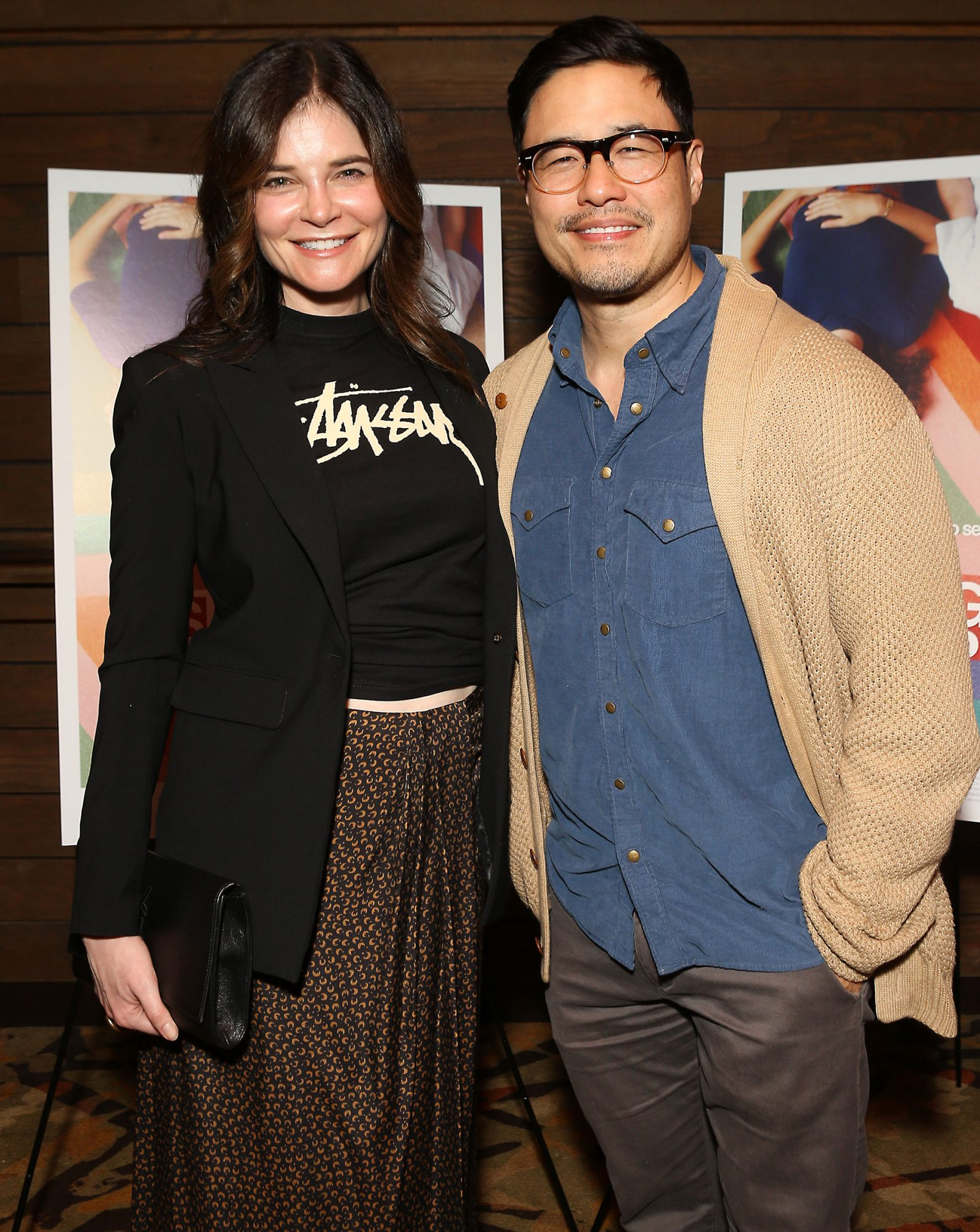 Betsy Brandt and Randall Park