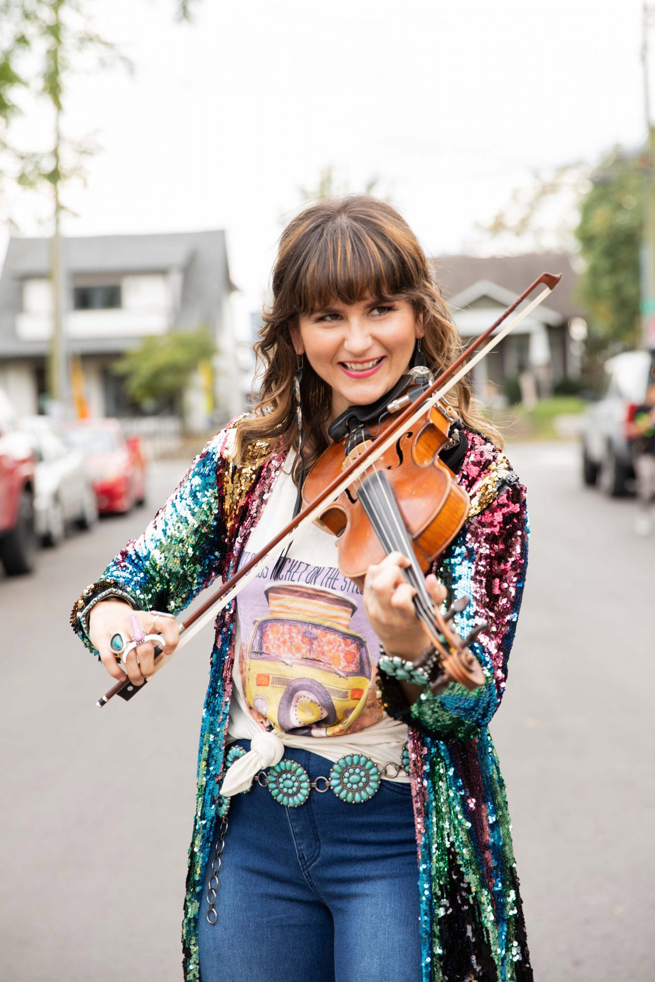 """The fiddler (and the 2019 CMA Musician of the Year) was one of five acts who had to pull out of the CMA Awards at the last minute due to a close COVID diagnosis - in this case, her own.                             """"Unfortunately I tested positive for...yeah you guessed it...'Rona,"""" the fiddler, 36,wrote on Instagramright before the show. """"I am thankfully feeling just fine, just bummed of course."""""""