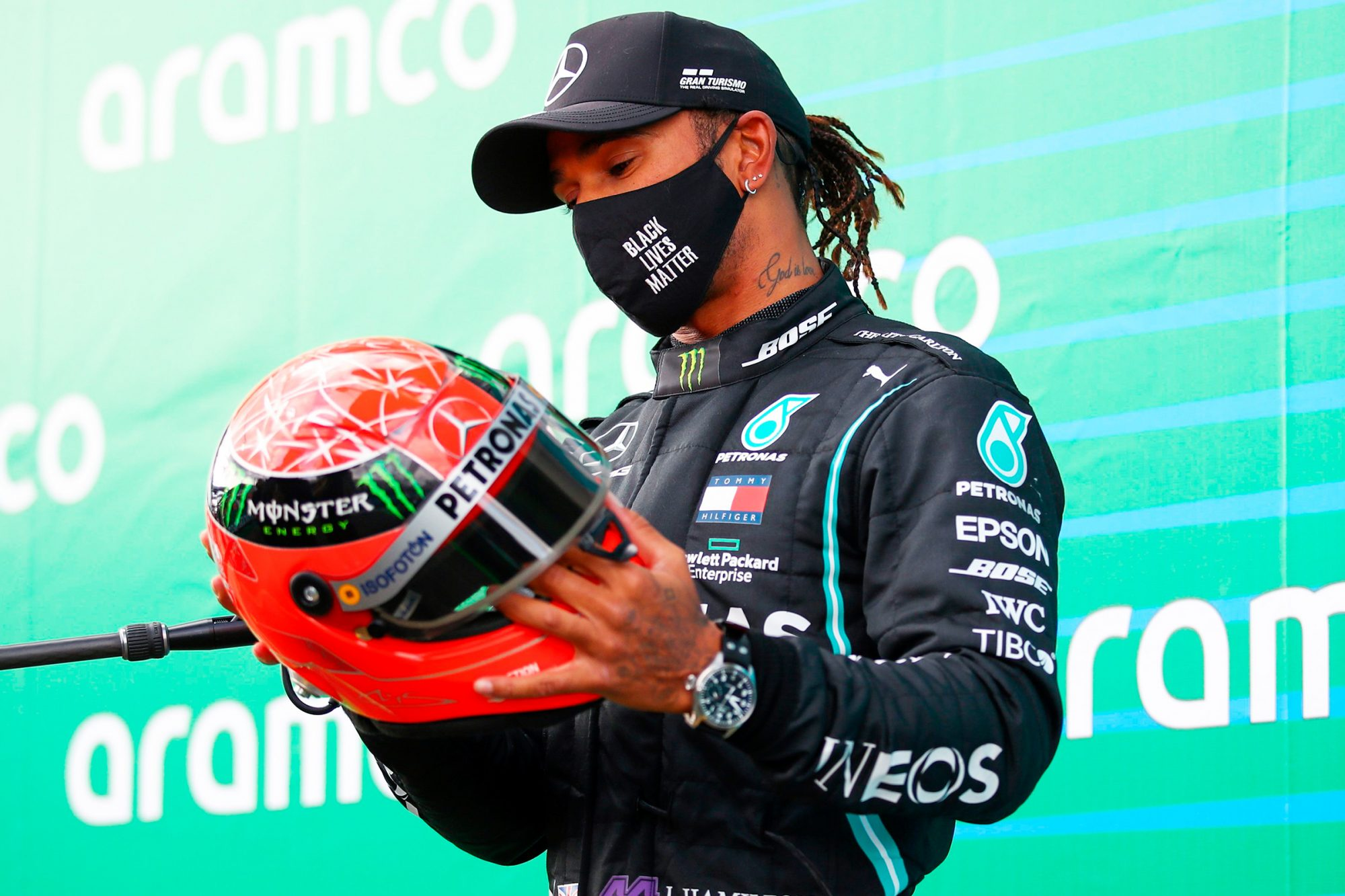 """On Dec. 1, Hamilton's Mercedes teamconfirmed to CNNthat the 35-year-old British Formula 1 driver was self-isolating after testing positive, and is only experiencing mild symptoms.                             """"He is otherwise fit and well, and the entire team sends him its very best wishes for a swift recovery,"""" the team said in a statement.                             According to Mercedes, Hamilton woke up on Nov. 30 with mild symptoms and later found out he had been exposed to the virus prior to the Bahrain Grand Prix the day before. He had tested negative three times the previous week ahead of the race.                             In his own social media post, Hamilton wrote that he was """"gutted to not be able to race this weekend but my priority is to follow the protocols and advice to protect others.""""                             He continued, """"I'm really lucky that I feel ok with only mild symptoms and will do my best to stay fit and healthy."""""""