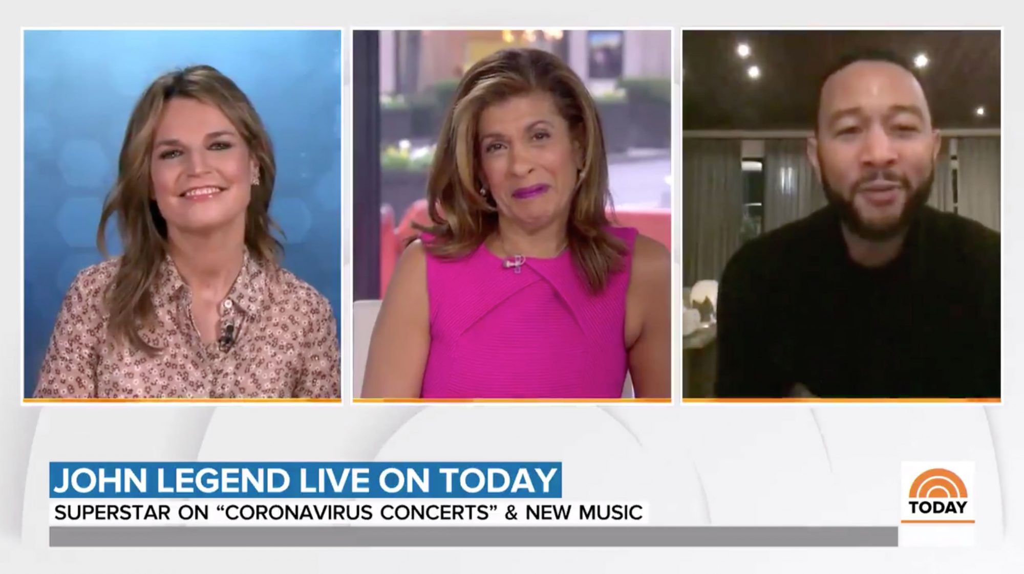 John Legend on the Today Show
