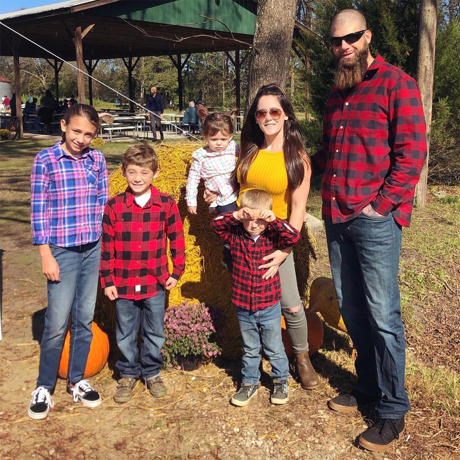 Jenelle Evans and David Eason with kids