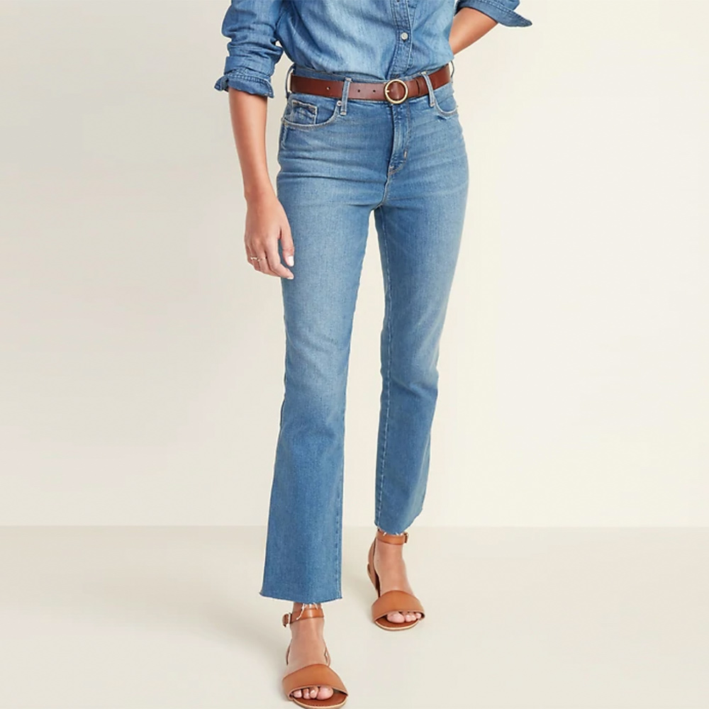 Women's High-Waisted Flare Ankle Jeans