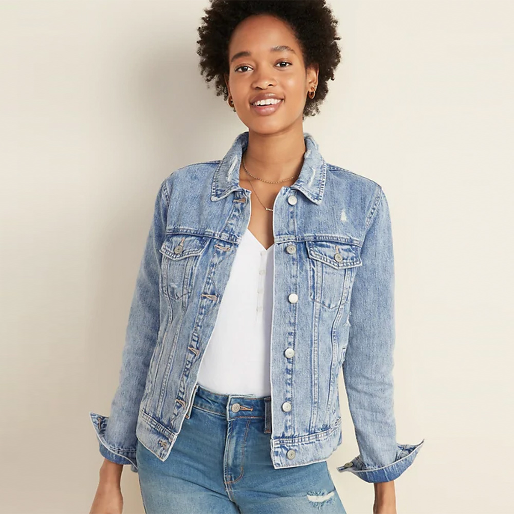 Women's Distressed Jean Jacket