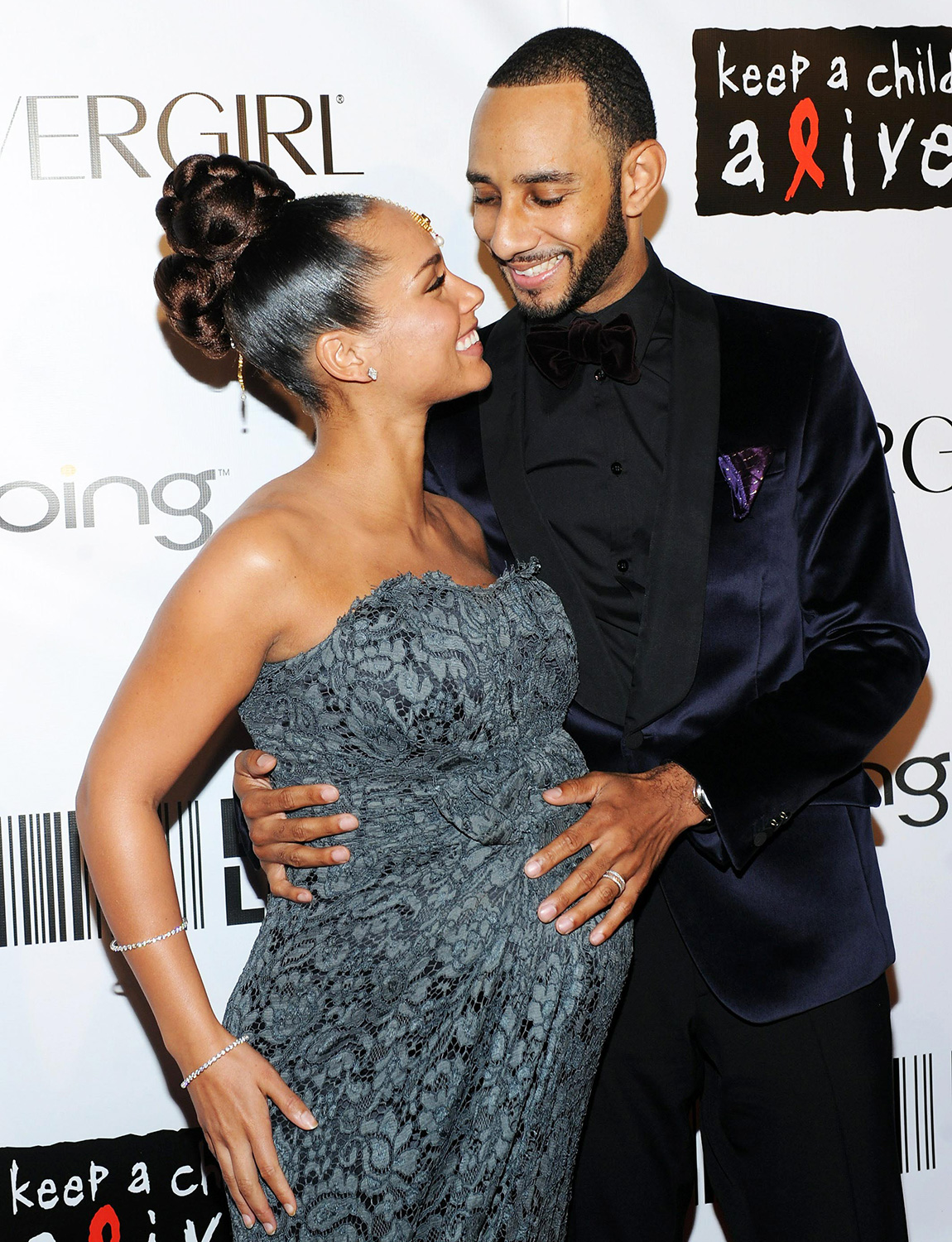 Alicia Keys and husband producer Swizz Beatz