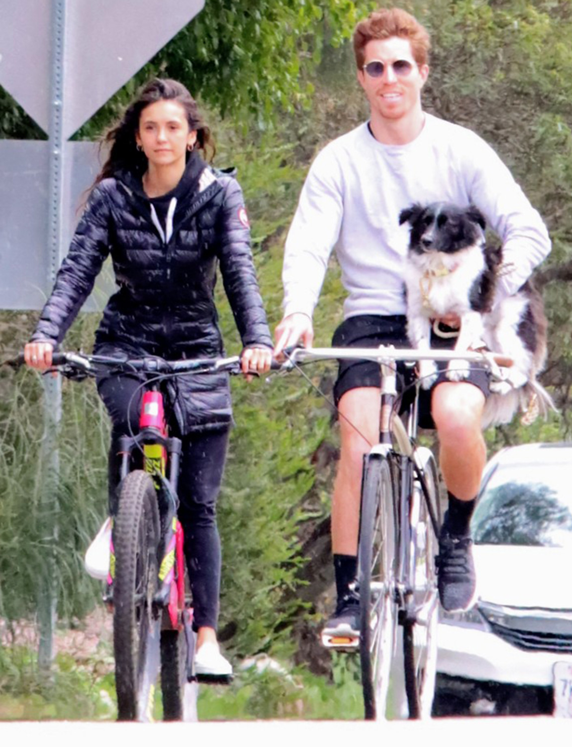 Nina Dobrev seen spending Quarantine bicycling with Shaun White