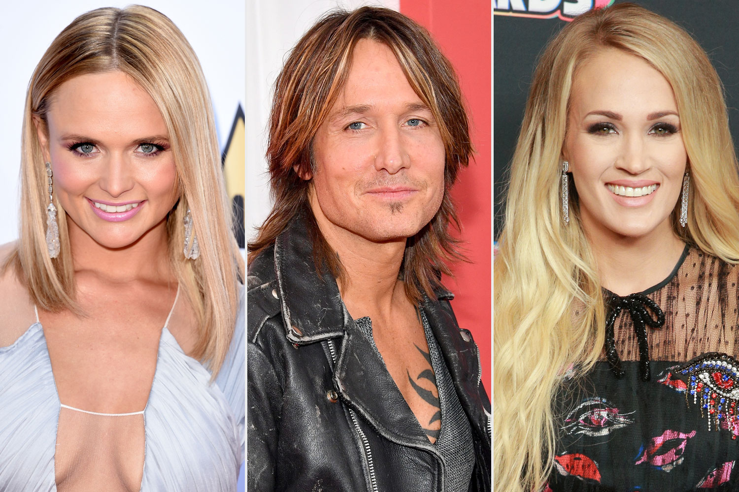 Miranda Lambert, Keith Urban, Carrie Underwood