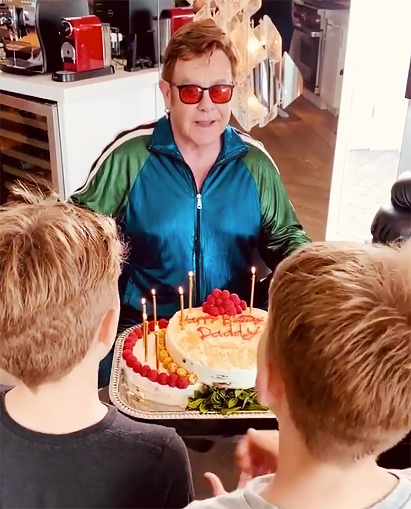 Elton John's Sons Sing Him Happy Birthday