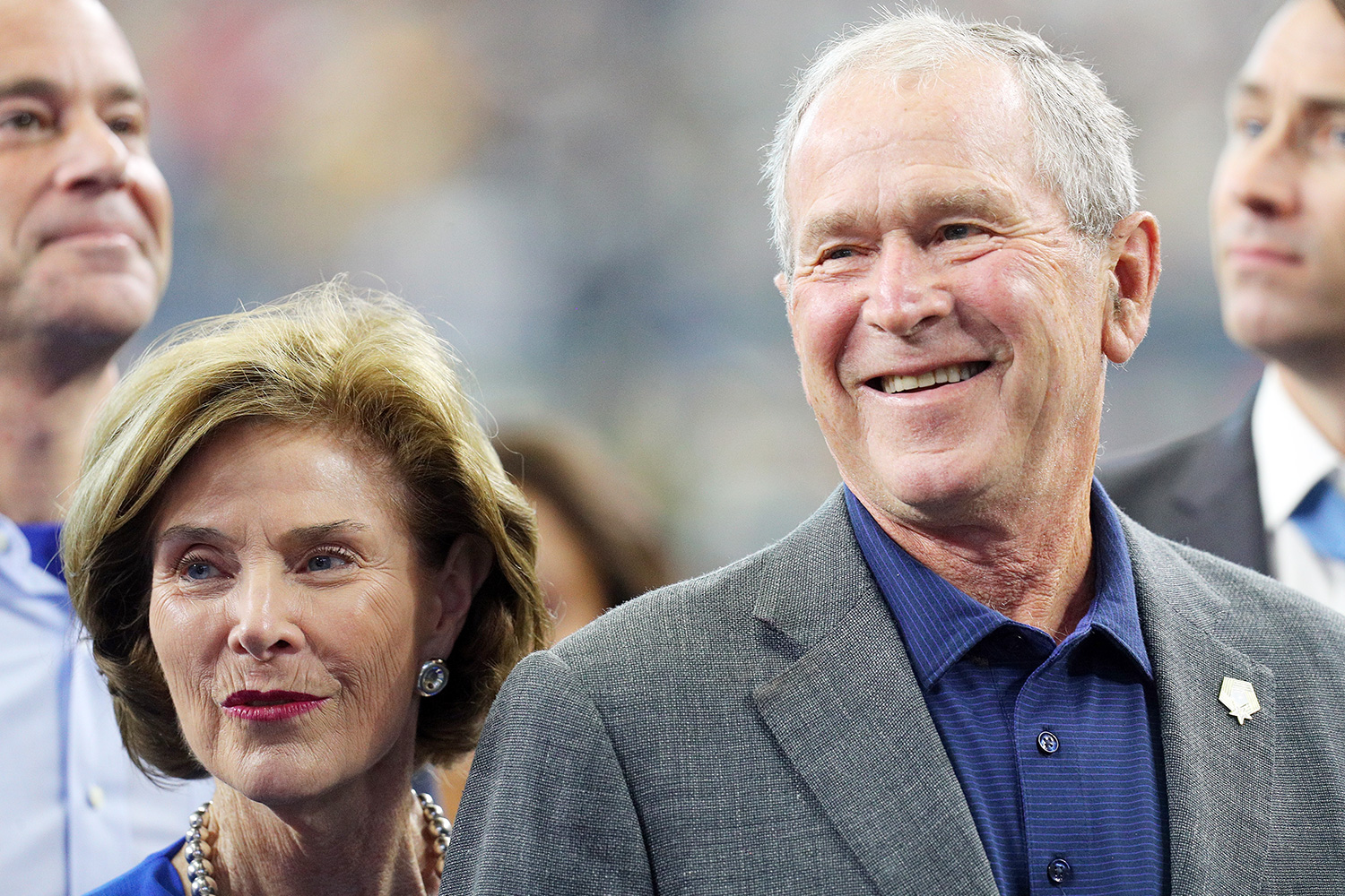 Former First Lady Laura Bush and former President George W. Bush