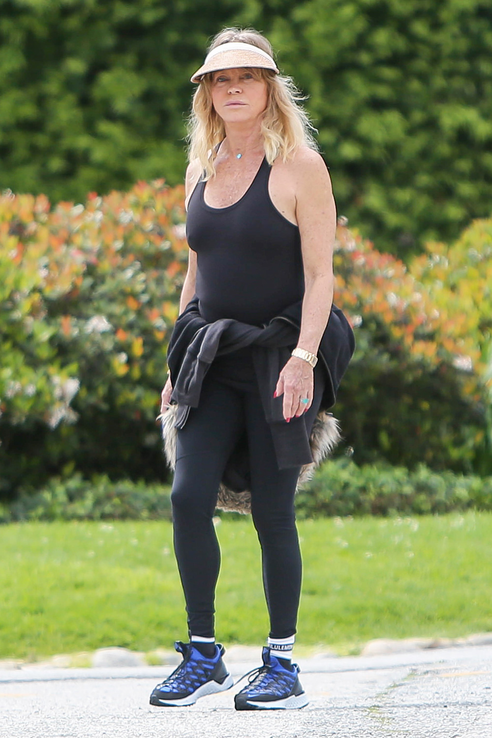 Goldie Hawn is seen on March 25, 2020 in Los Angeles, California