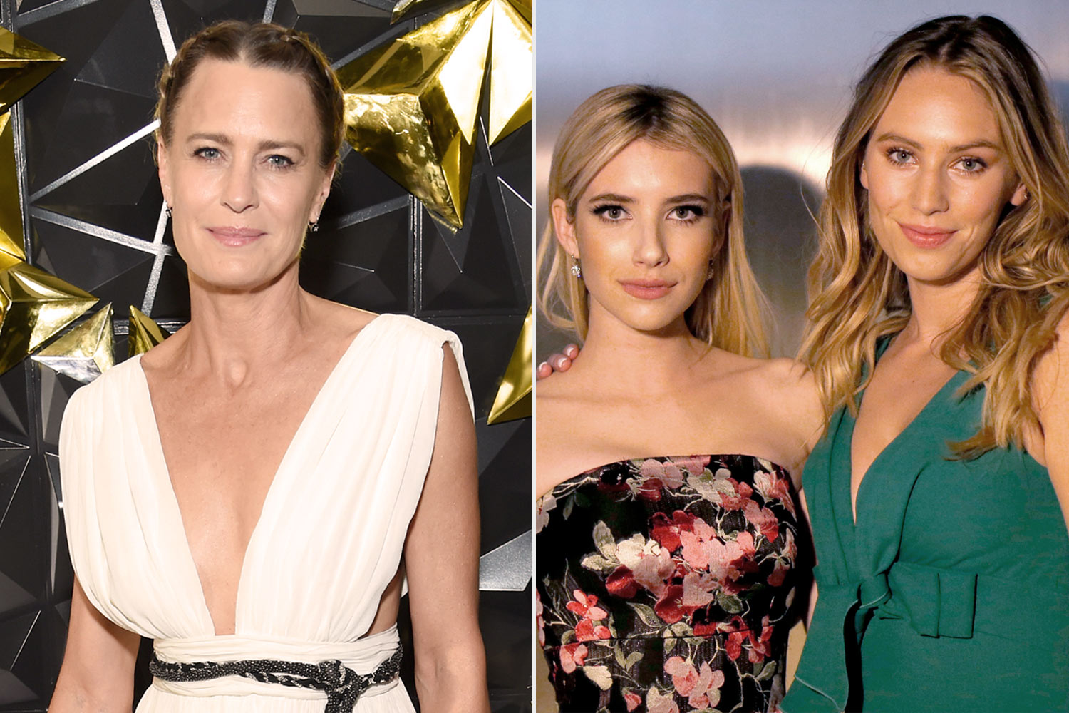 Robin Wright, Emma Roberts and Dylan Penn