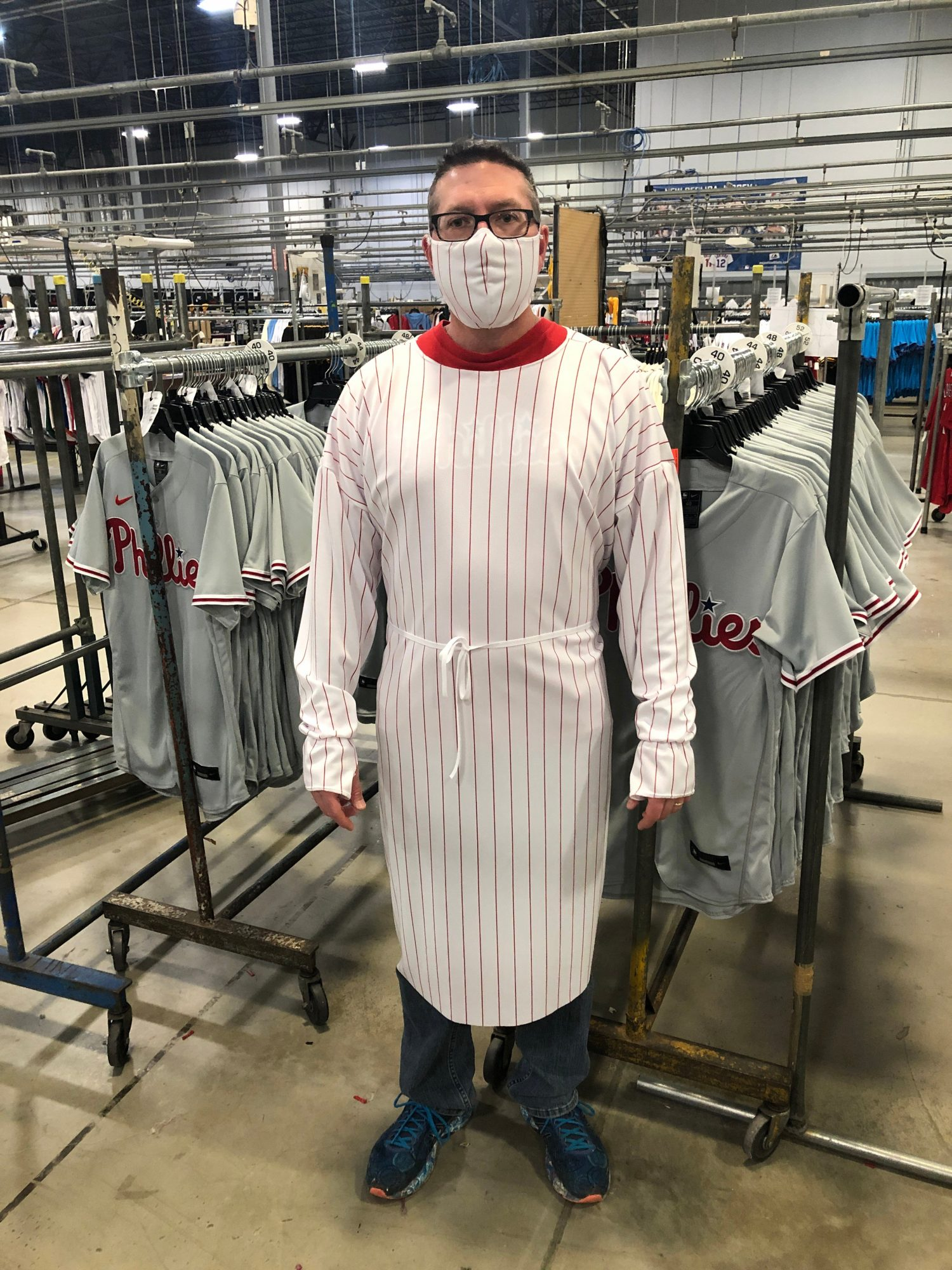 MLB Jersey Manufacturer Making Masks, Hospital Gowns