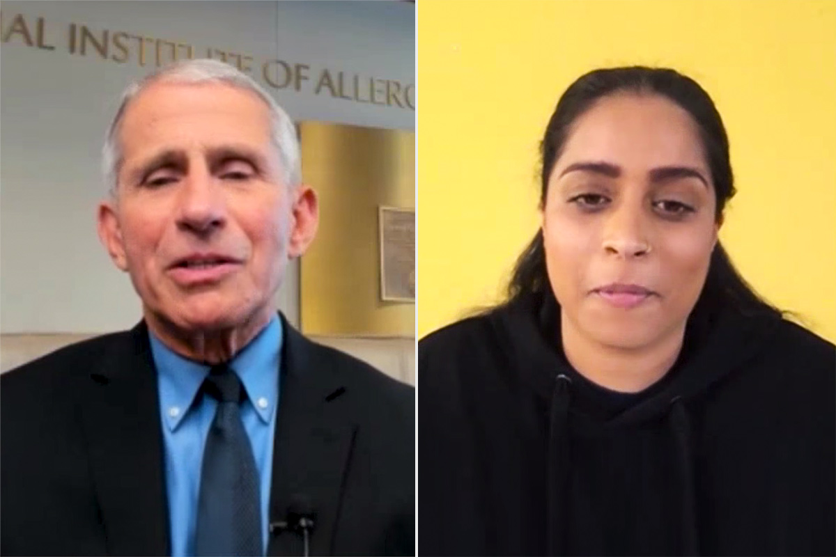 lily singh and dr fauci