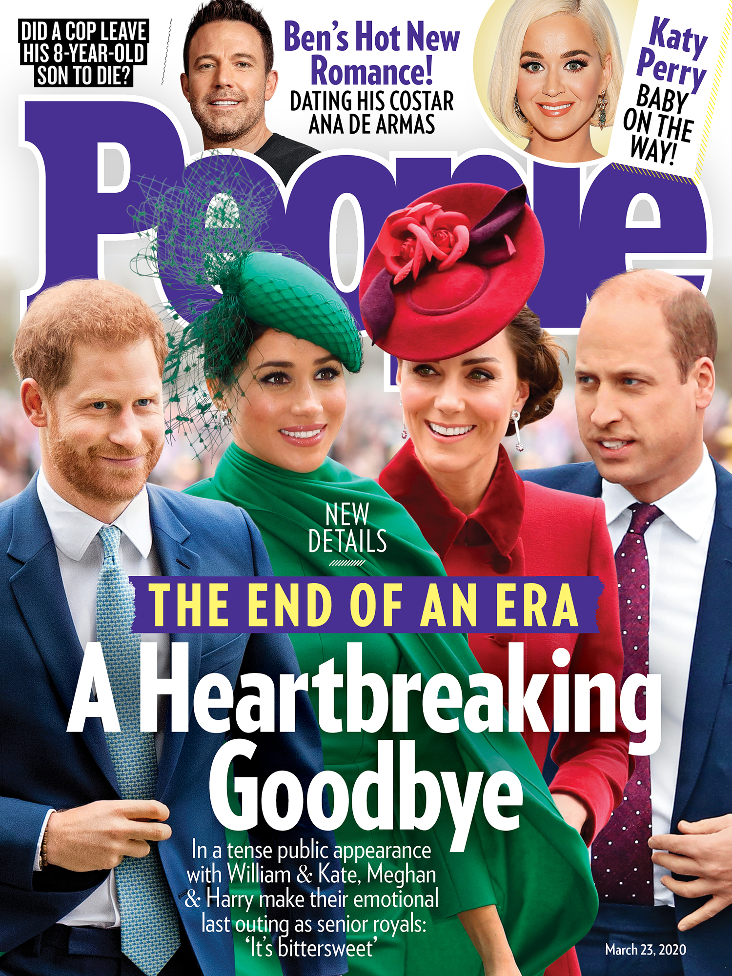 3/23/2020 cover of people magazine featuring the royal family