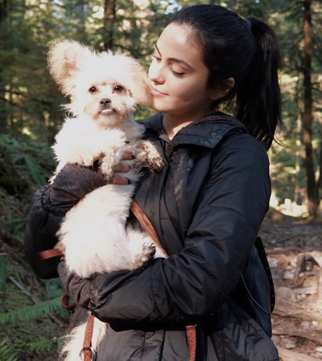 Camila Mendes with pet