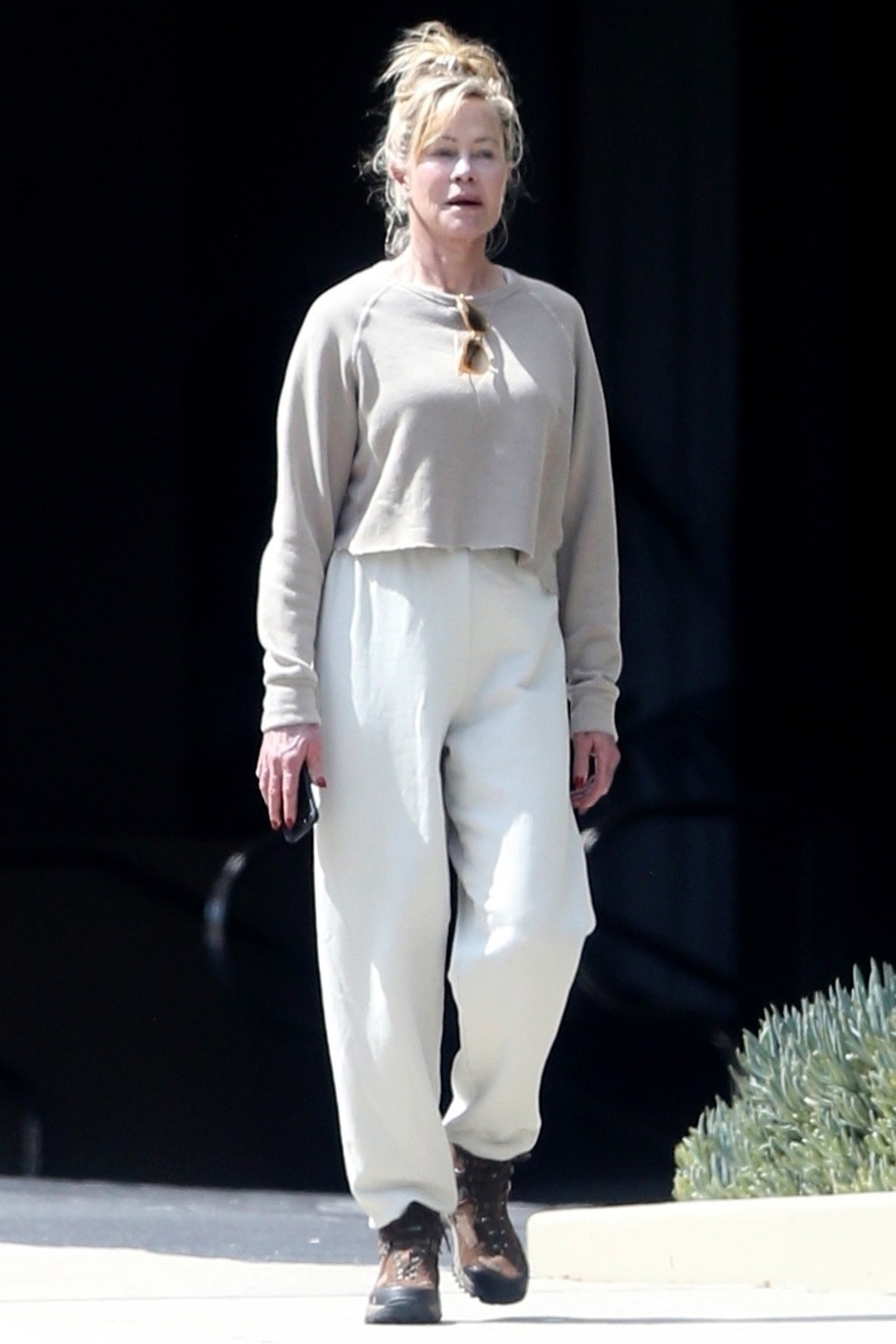 Melanie Griffith explores a new path for her daily walk