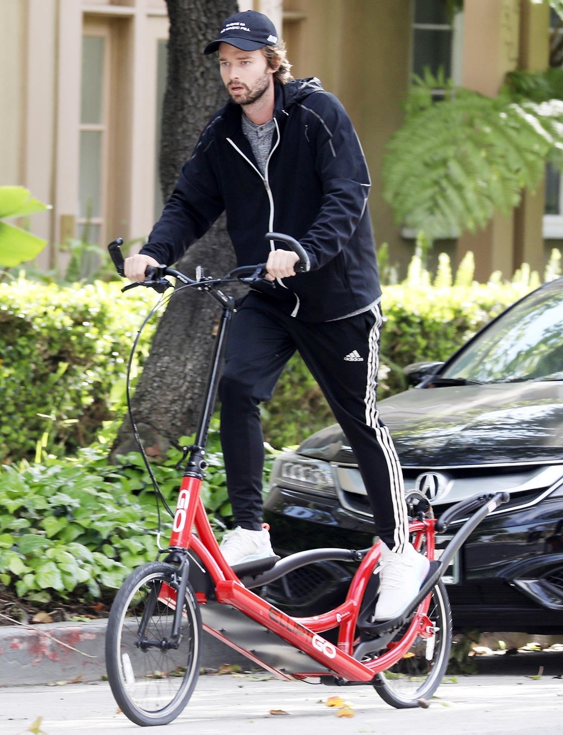 Patrick Schwarzenegger and Abby Champion ride bikes with Maria Shriver