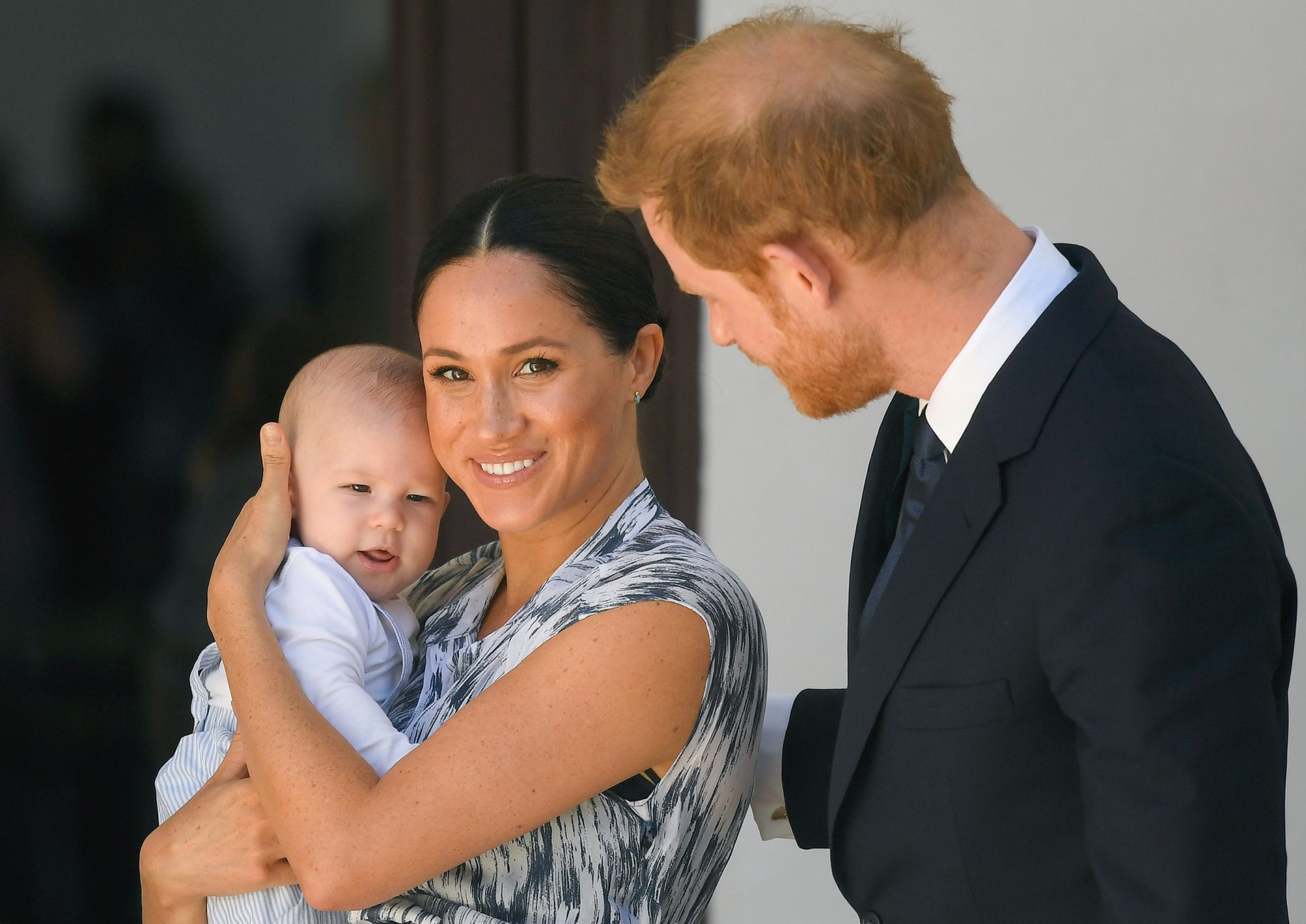 Prince Harry, Duke of Sussex, Meghan, Duchess of Sussex and their baby son Archie Mountbatten-Windsor